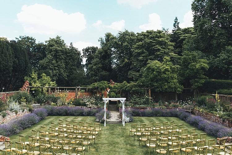 Outdoor Ceremony Suffolk Fun Navy Yellow Country Garden Wedding http://missgen.com/