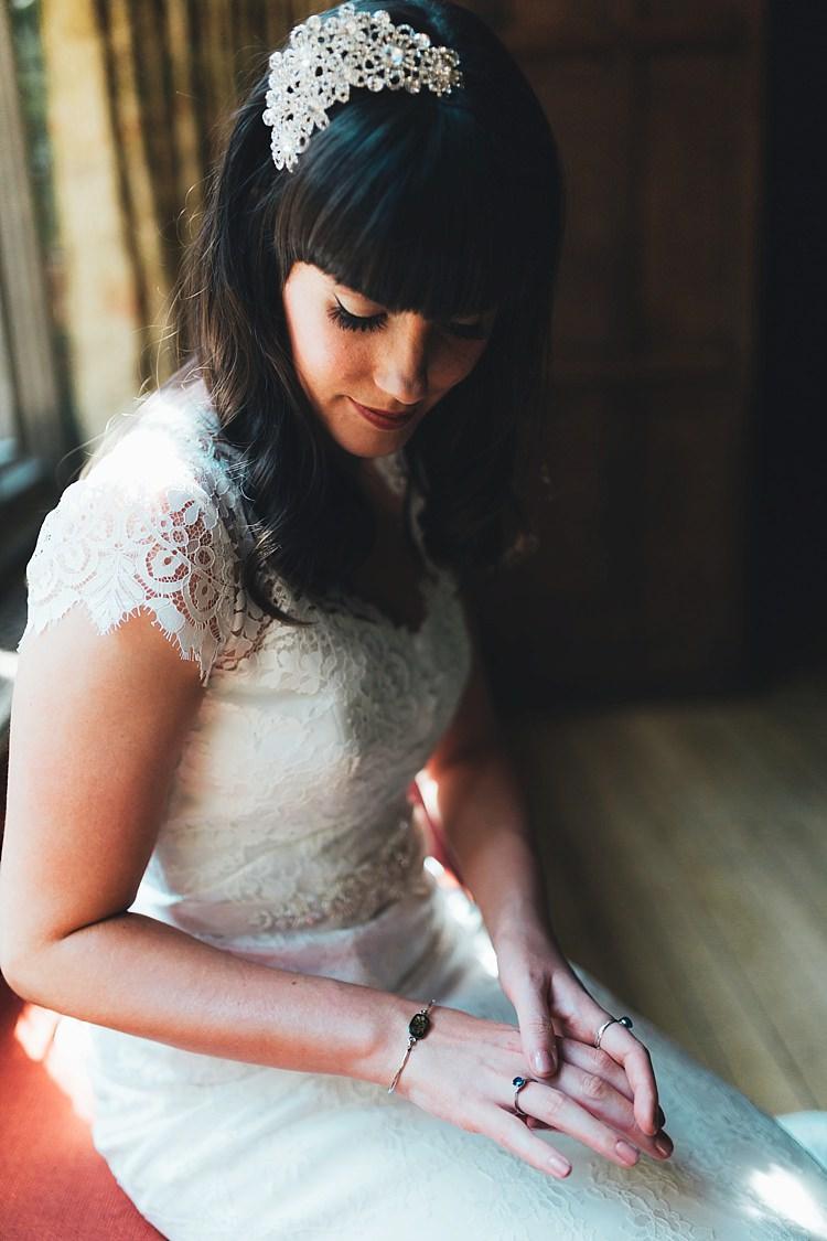 Hair Bride Bridal Fringe Bangs Curls Accessory Make Up Fun Navy Yellow Country Garden Wedding http://missgen.com/