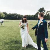 Fun Navy & Yellow Country Garden Wedding