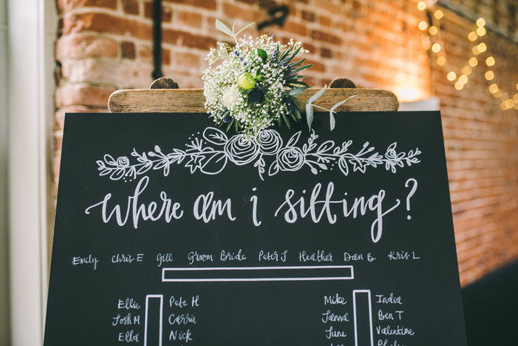 Chalk Black Board Seating Plan Table Chart Flowers Magical Bohemian Barn Wedding http://www.jamespowellphotography.co.uk/