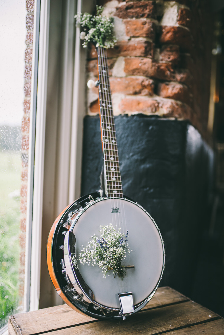 Instrument Flowers Magical Bohemian Barn Wedding http://www.jamespowellphotography.co.uk/