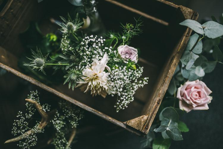 Crate Flowers Blooms Decor Magical Bohemian Barn Wedding http://www.jamespowellphotography.co.uk/