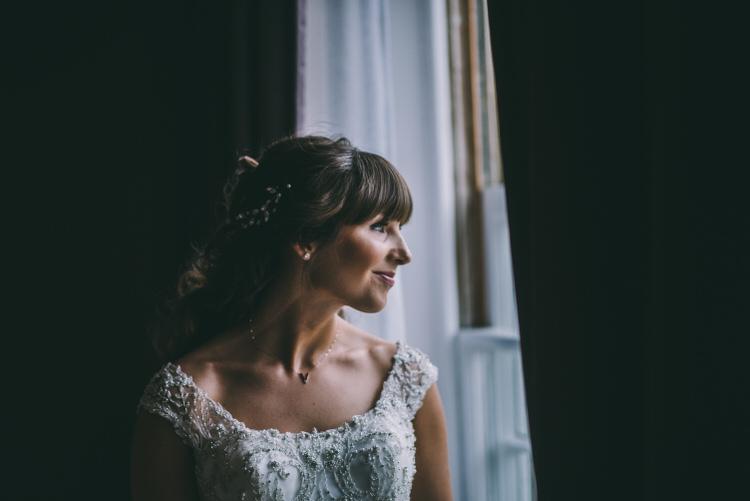 Bride Hair Style Fringe Bangs Bridal Magical Bohemian Barn Wedding http://www.jamespowellphotography.co.uk/