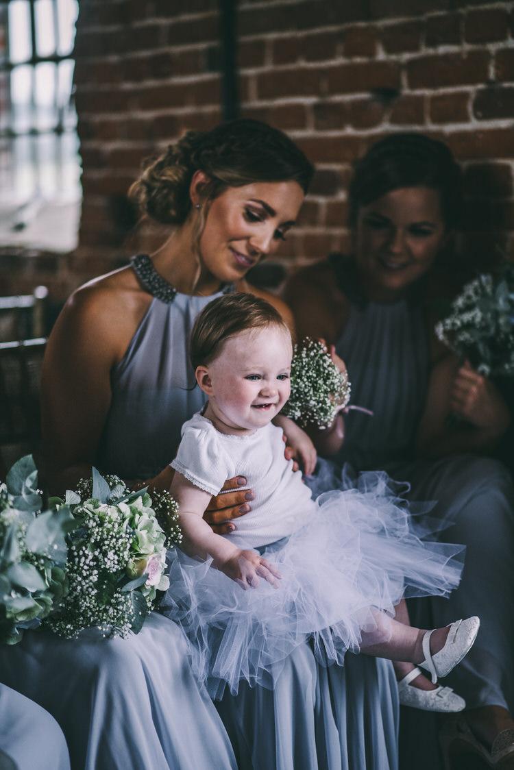 Baby Flower Girl Tutu Magical Bohemian Barn Wedding http://www.jamespowellphotography.co.uk/