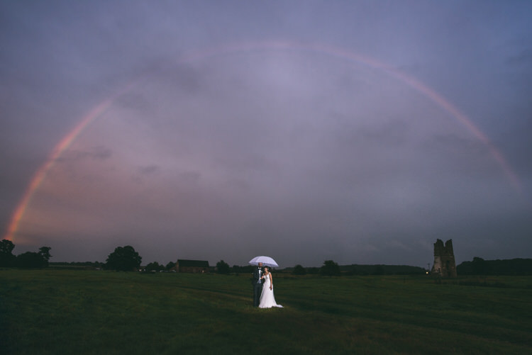 Rainbow Portrait Bride Groom Magical Bohemian Barn Wedding http://www.jamespowellphotography.co.uk/