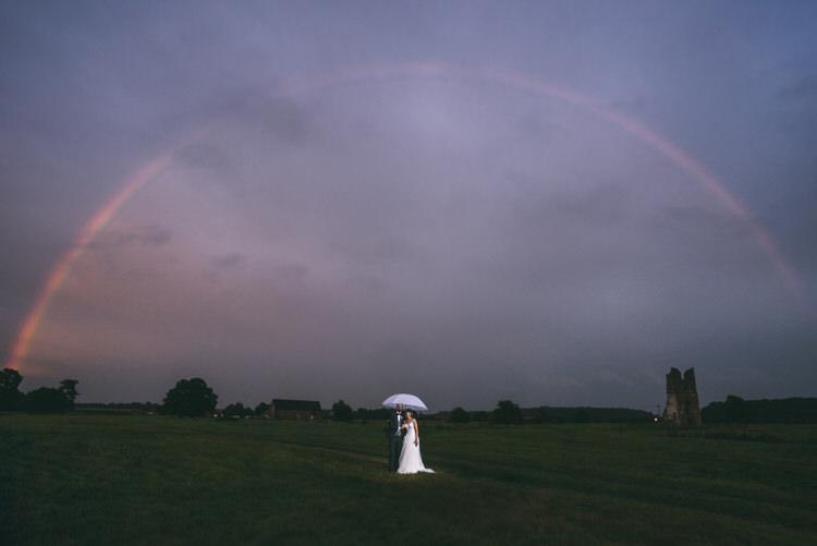 Rainbow Portrait Bride Groom Magical Bohemian Barn Wedding http://www.jamespowellphotography.co.uk/