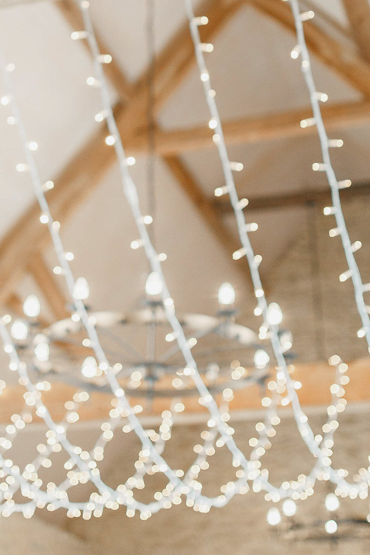 Light Lighting Canopy Decor Magical Fairy Lit Autumn Barn Wedding http://whitestagweddings.com/