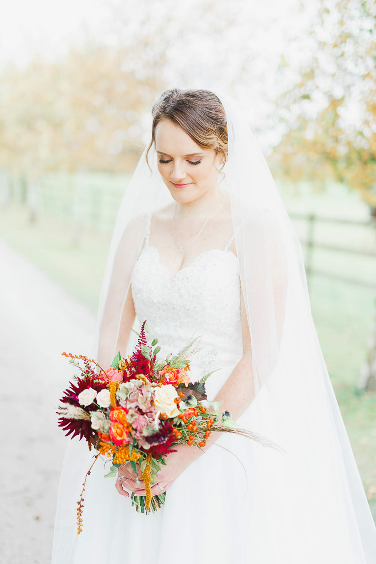 Veil Bride Bridal Dreamy Tulle Magical Fairy Lit Autumn Barn Wedding http://whitestagweddings.com/