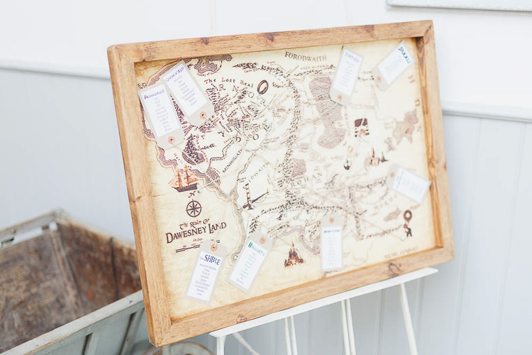 Map Seating Plan Table Chart Magical Fairy Lit Autumn Barn Wedding http://whitestagweddings.com/