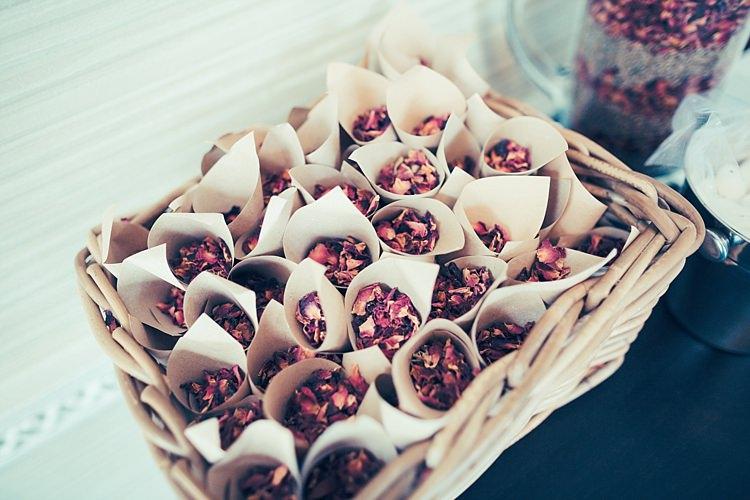 Confetti Cones Basket Fun Stylish City Hall Wedding http://www.terryliphotography.co.uk/