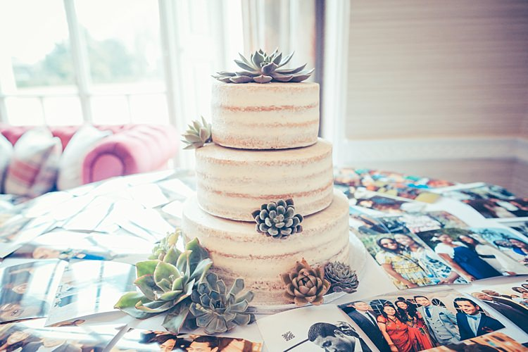 Naked Cake Buttercream Succulents Decor Flowers Photos Fun Stylish City Hall Wedding http://www.terryliphotography.co.uk/