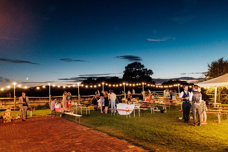 Festoon Lights Fun DIY Barn Farm Summer Wedding http://www.annapumerphotography.com/