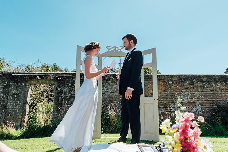 Door Backdrop Ceremony Frame Fun DIY Barn Farm Summer Wedding http://www.annapumerphotography.com/