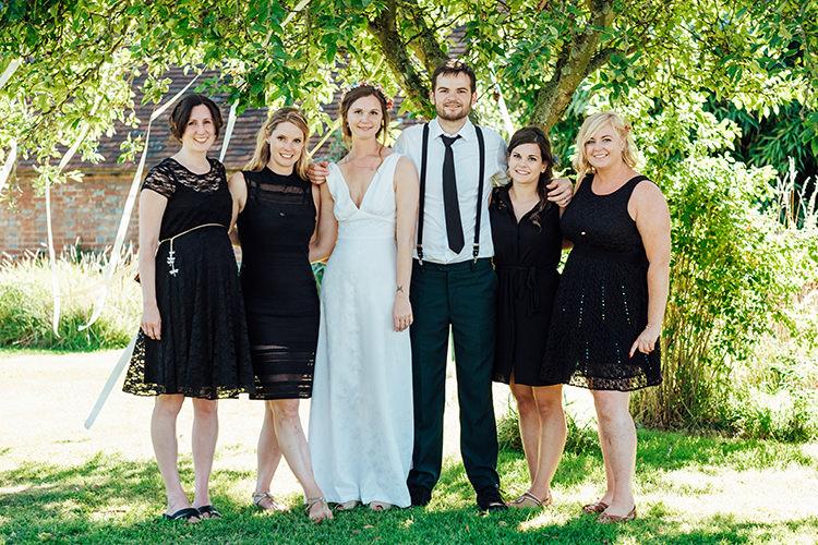 Short Black Bridesmaid Dresses Fun DIY Barn Farm Summer Wedding http://www.annapumerphotography.com/
