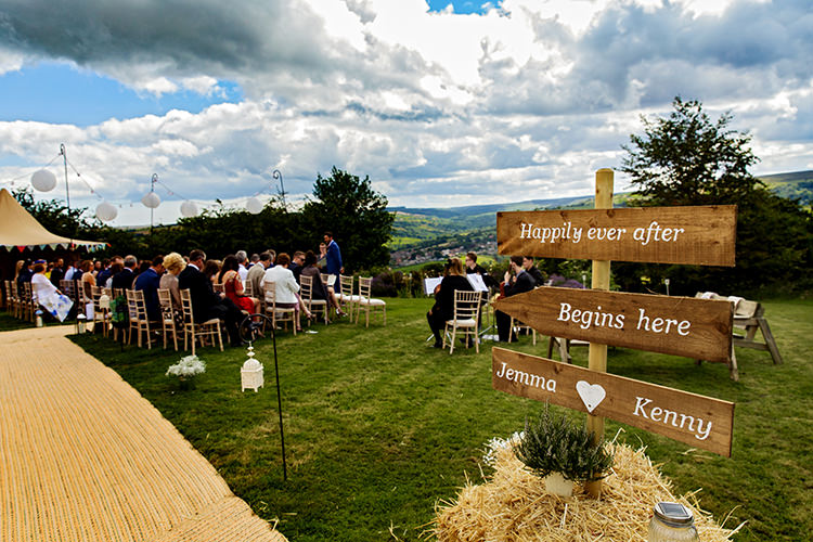 Wooden Sign Post Outdoorsy Garden Rustic Tipi Wedding http://alexabbottphotography.co.uk/