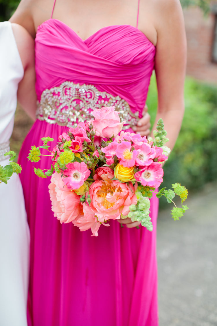 Peony Peonies Bouquet Flowers Coral Pink Bride Bridal Bridesmaid Colourful Pastel Home Made Farm Wedding http://helencawtephotography.com/