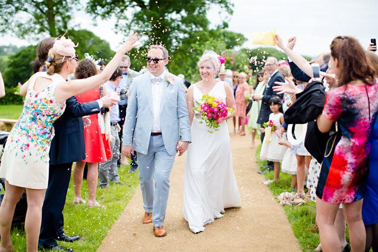 Confetti Throw Colourful Pastel Home Made Farm Wedding http://helencawtephotography.com/