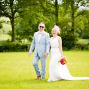 Colourful Pastel Home Made Farm Wedding