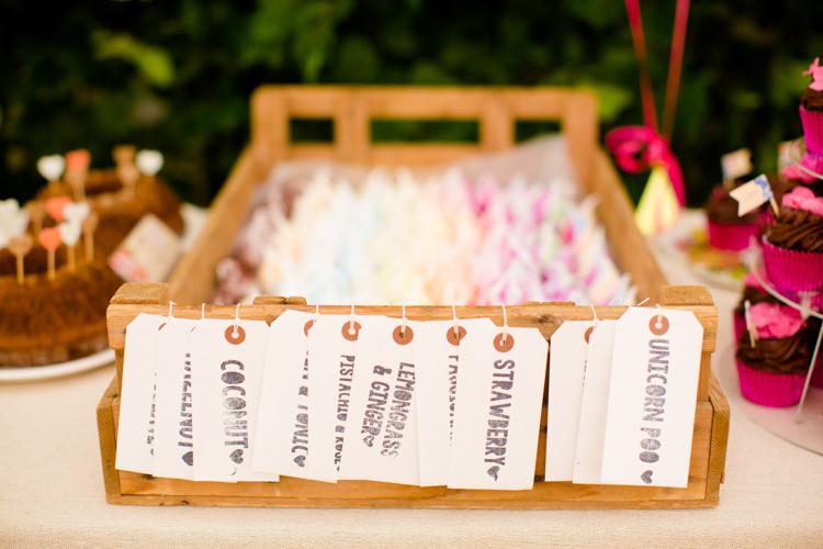 Meringues Colourful Pastel Home Made Farm Wedding http://helencawtephotography.com/