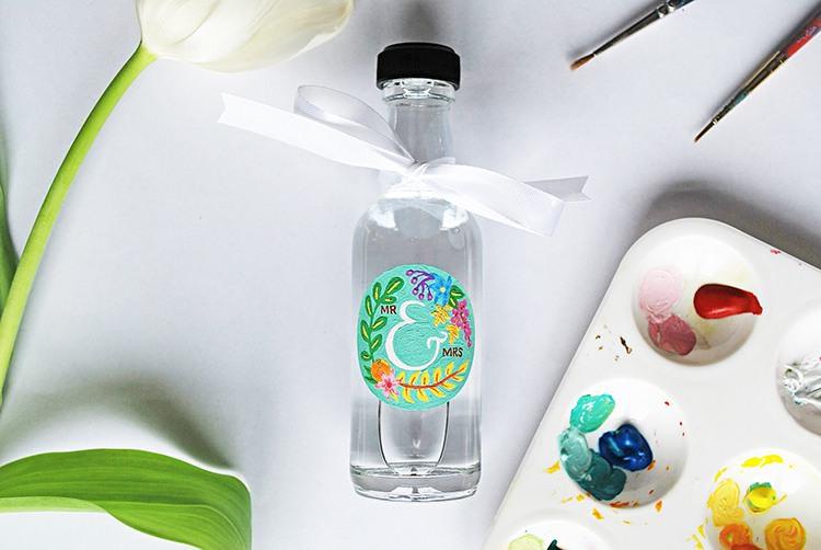 Mini Glass Bottle Jar Wedding Favours Itsy