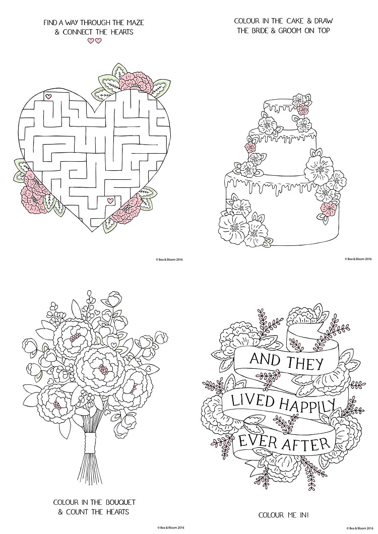 Free Download Printable Wedding Colouring Sheets for Kids ...