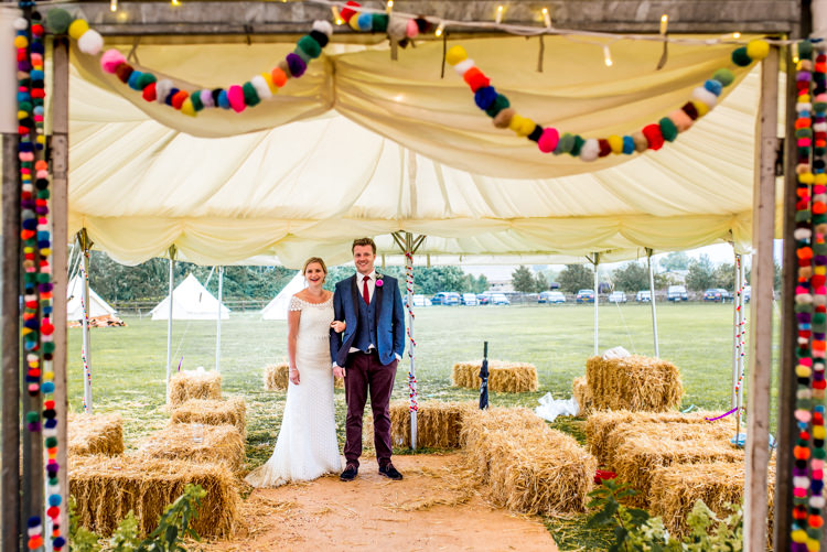 Multicoloured Home Made Glamping Wedding http://www.michellewoodphotographer.com/