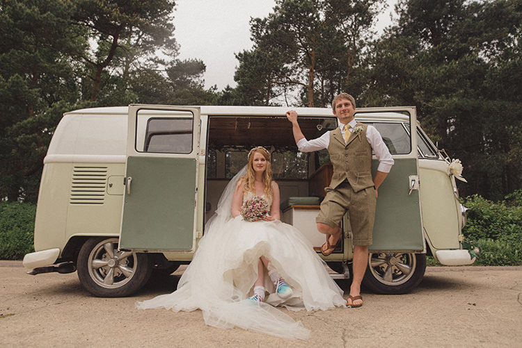 VW Campervan Rustic Quirky Woodland Wedding http://www.rebeccadouglas.co.uk/