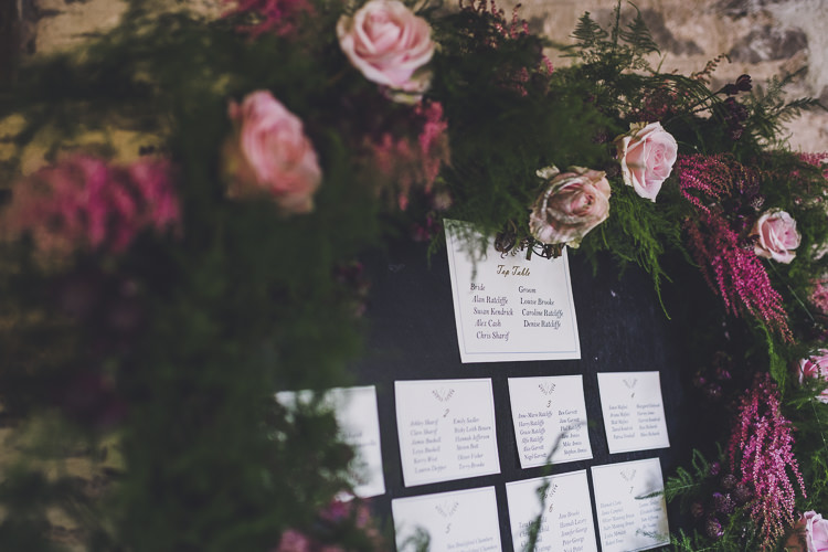 Heart Seating Plan Table Chart Flowers Foliage Greenery Ethereal Romantic Autumn Barn Wedding http://www.oacphotography.com/
