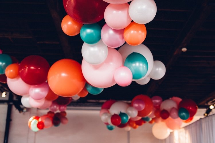 Decor Installation Colourful Modern Fun Balloons Wedding http://www.lovestruckphoto.co.uk/
