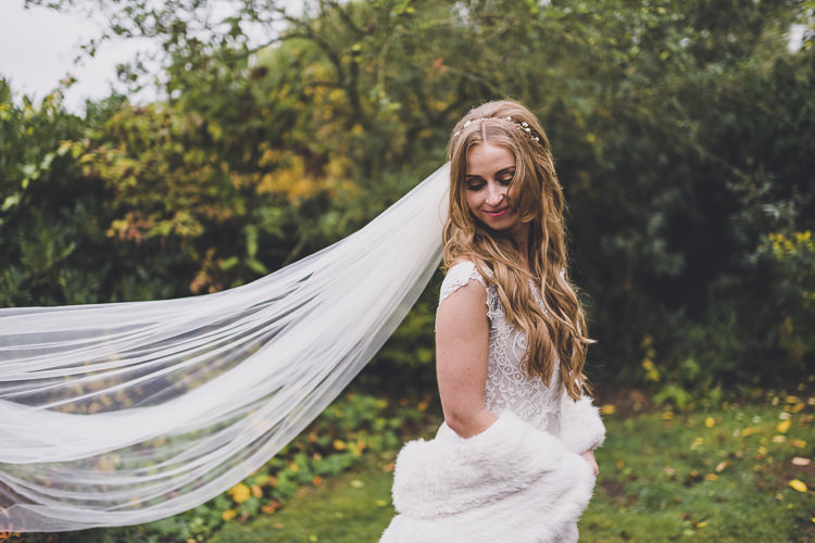 Veil Bride Bridal Ethereal Romantic Autumn Barn Wedding http://www.oacphotography.com/