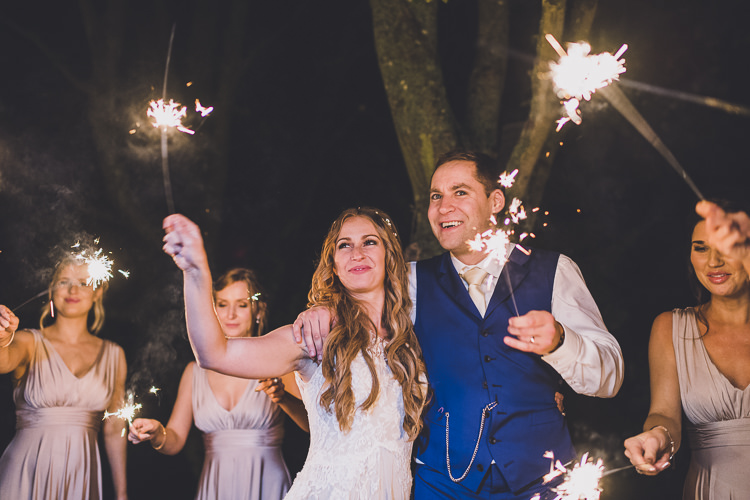 Sparklers Ethereal Romantic Autumn Barn Wedding http://www.oacphotography.com/