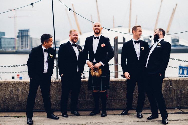 Tuxedo Bow Tie Groomsmen Colourful Modern Fun Balloons Wedding http://www.lovestruckphoto.co.uk/