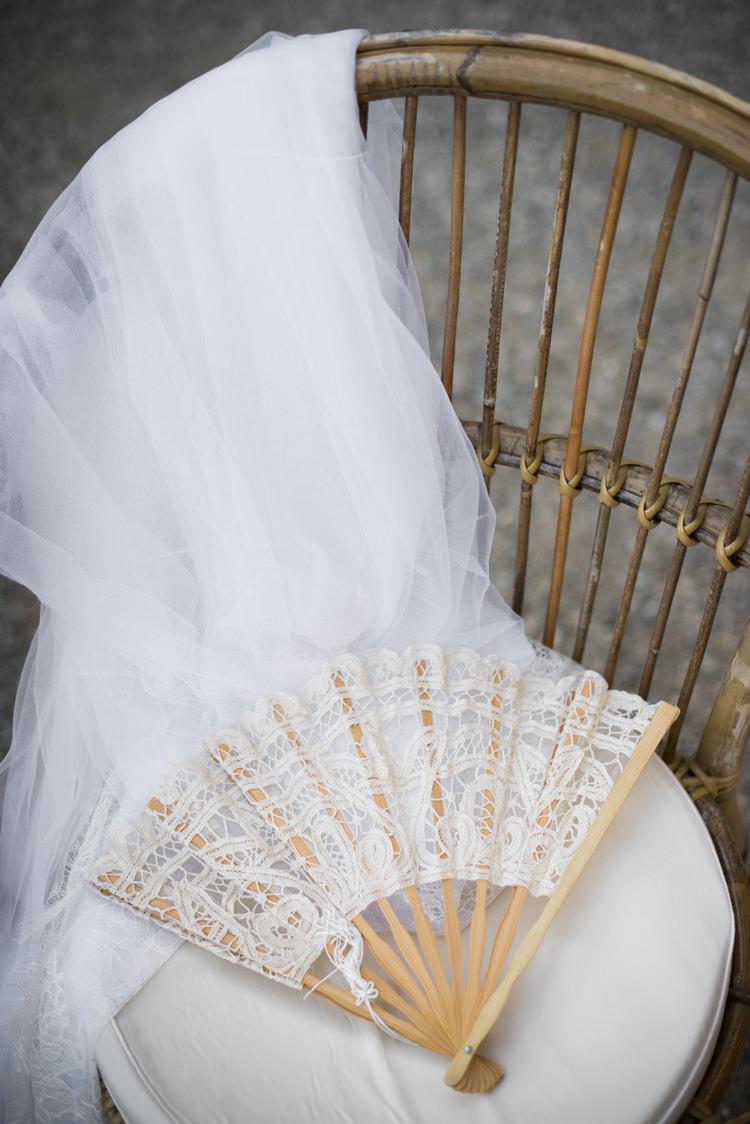 Bridal Veil Lace Fan Wooden Chair Romantic Outdoor Castle Tuscany Wedding http://www.natalymontanari.com/