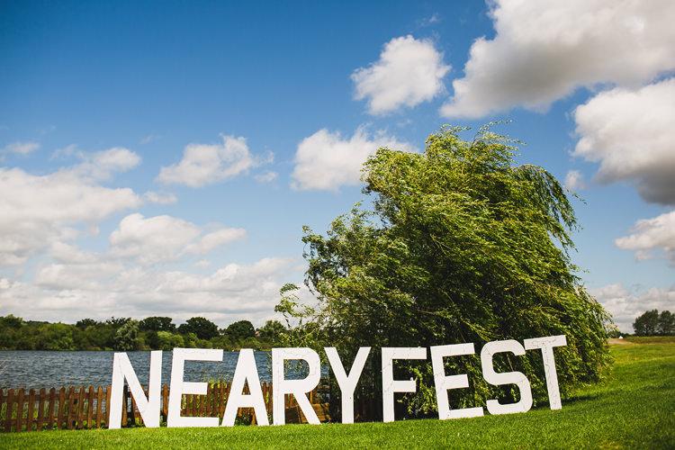 Giant Sign Fun Festival Glamping Wedding https://storry.co.uk/