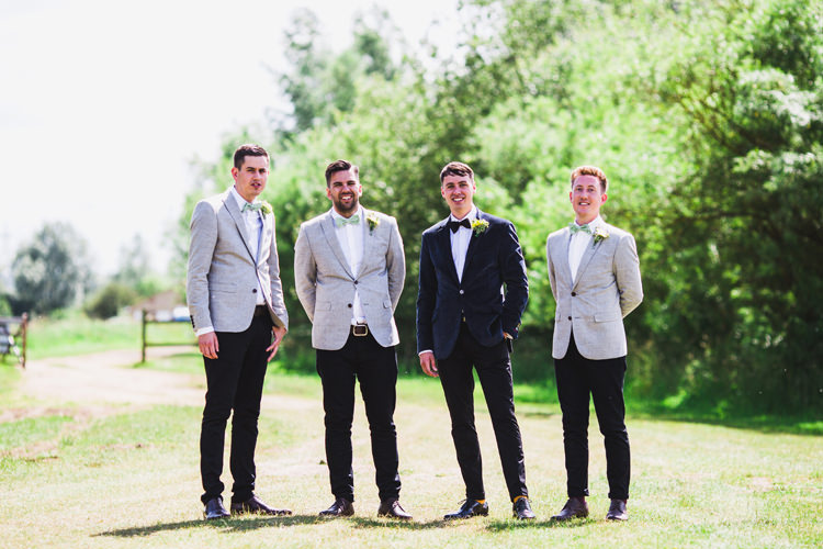 Chinos Jackets Bow Tie Groom Groomsmen Fun Festival Glamping Wedding https://storry.co.uk/