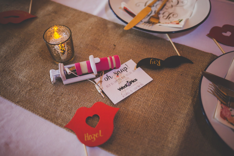Photo Booth Prop Favours Place Names DIY Summer Tipi Wedding http://www.eva-photography.com/