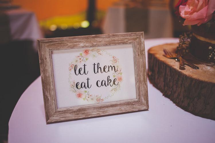 Let Them Eat Cake Sign DIY Summer Tipi Wedding http://www.eva-photography.com/