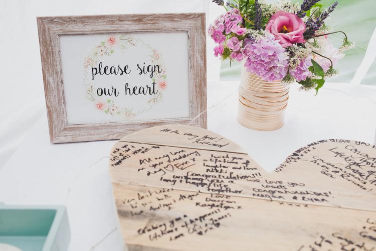 Wooden Heart Guest Book DIY Summer Tipi Wedding http://www.eva-photography.com/