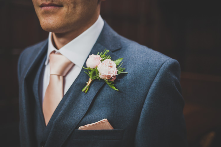 Pink Rose Buttonhole Groom DIY Summer Tipi Wedding http://www.eva-photography.com/