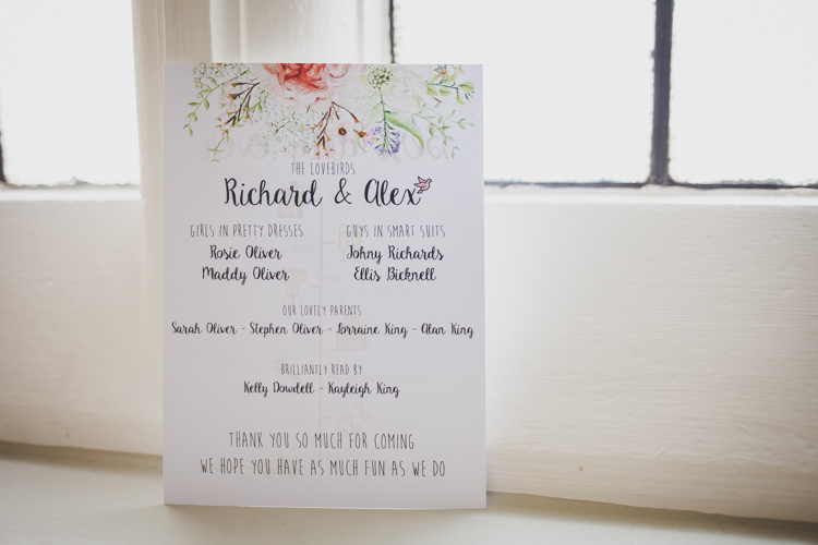 Floral Illustrated Stationery Invite Invitation DIY Summer Tipi Wedding http://www.eva-photography.com/