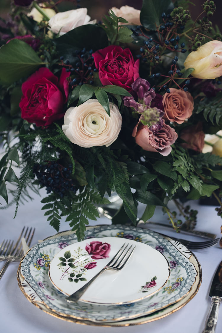 Roses Berries Flowers Centrepiece Decor Red Beauty And The Beast Wedding Ideas https://sophiecarefull.co.uk/