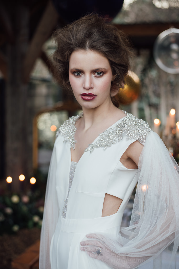 Dress Gown Bride Bridal Modern Sleeves Cut Out Tulle Beauty And The Beast Wedding Ideas https://sophiecarefull.co.uk/