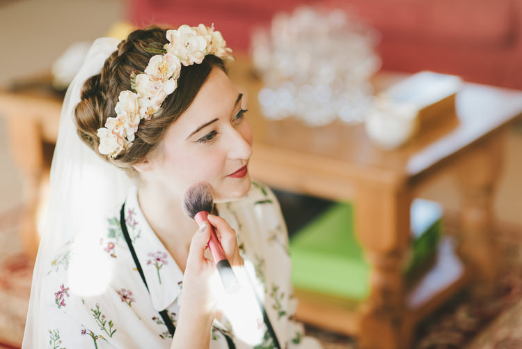 Bride Bridal Make Up Flower Crown Eclectic Quirky DIY Vintage Wedding https://www.georgimabee.com/