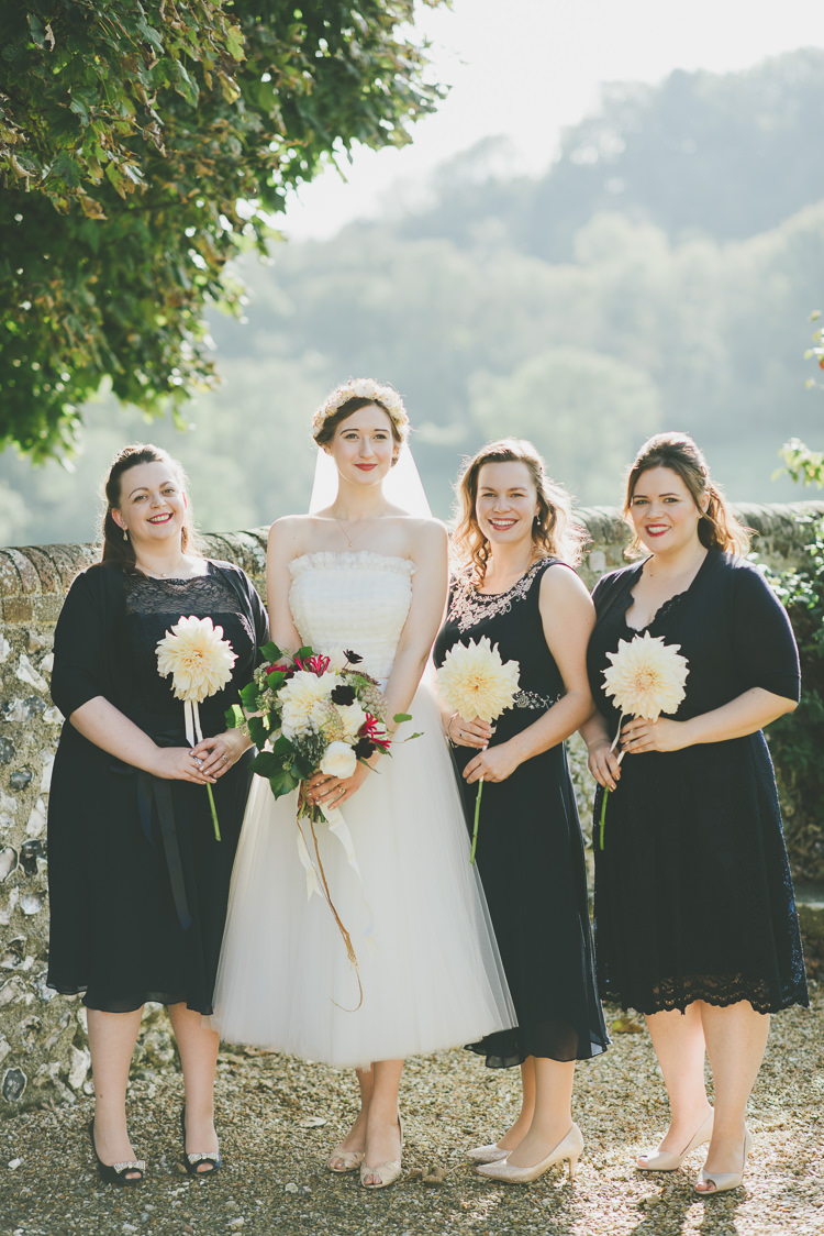 Mismatched Black Bridesmaid Dresses Eclectic Quirky DIY Vintage Wedding https://www.georgimabee.com/