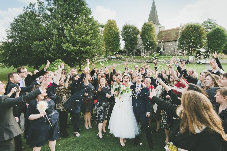 Confetti Throw Eclectic Quirky DIY Vintage Wedding https://www.georgimabee.com/