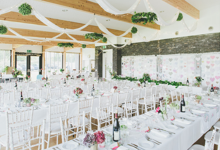 Village Hall Decor Drapes Swags Fairy Lights Eclectic Quirky DIY Vintage Wedding https://www.georgimabee.com/