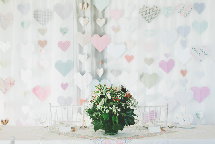 Paper Heart Backdrop Eclectic Quirky DIY Vintage Wedding https://www.georgimabee.com/