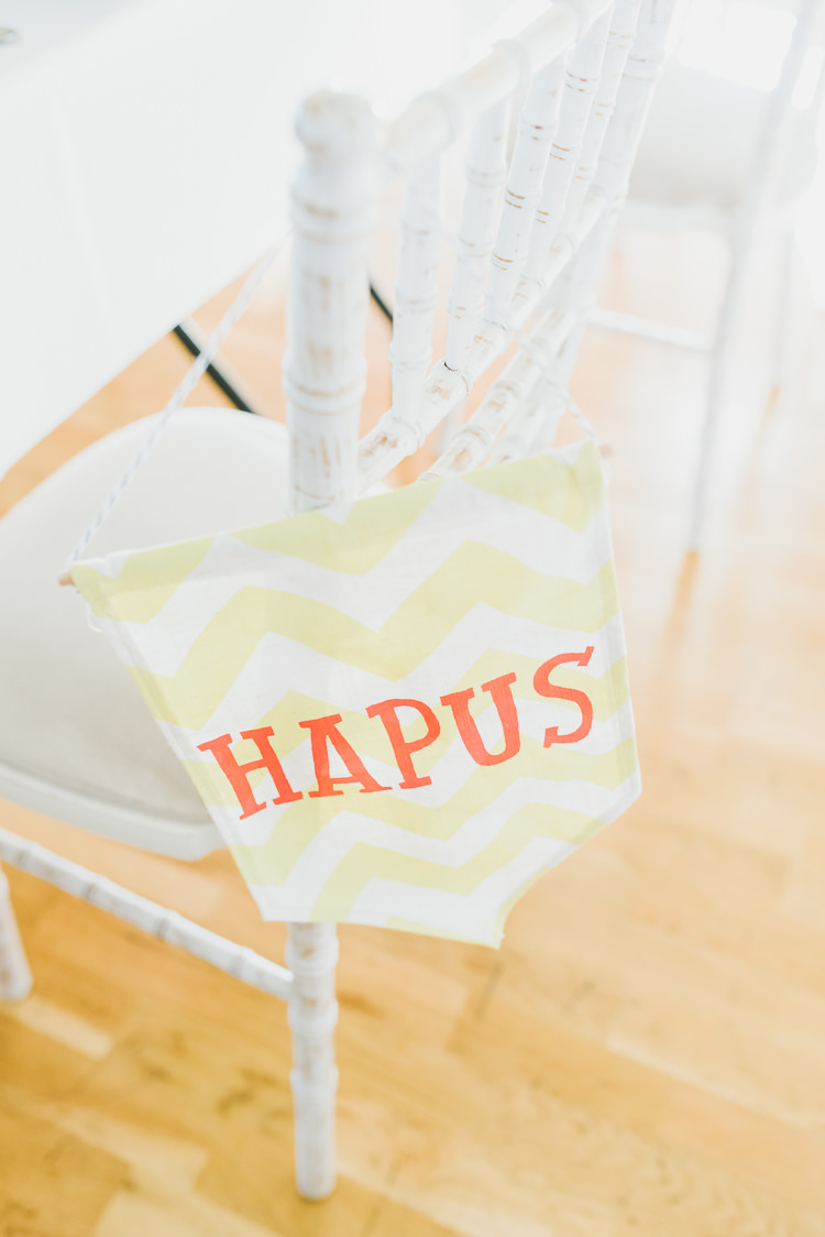 Named Banner Chair Eclectic Quirky DIY Vintage Wedding https://www.georgimabee.com/
