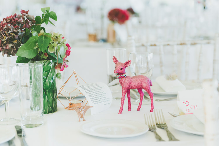 Painted Animals Dinosaurs DEcor Eclectic Quirky DIY Vintage Wedding https://www.georgimabee.com/