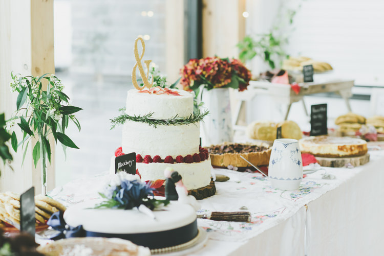 Cake Table Eclectic Quirky DIY Vintage Wedding https://www.georgimabee.com/